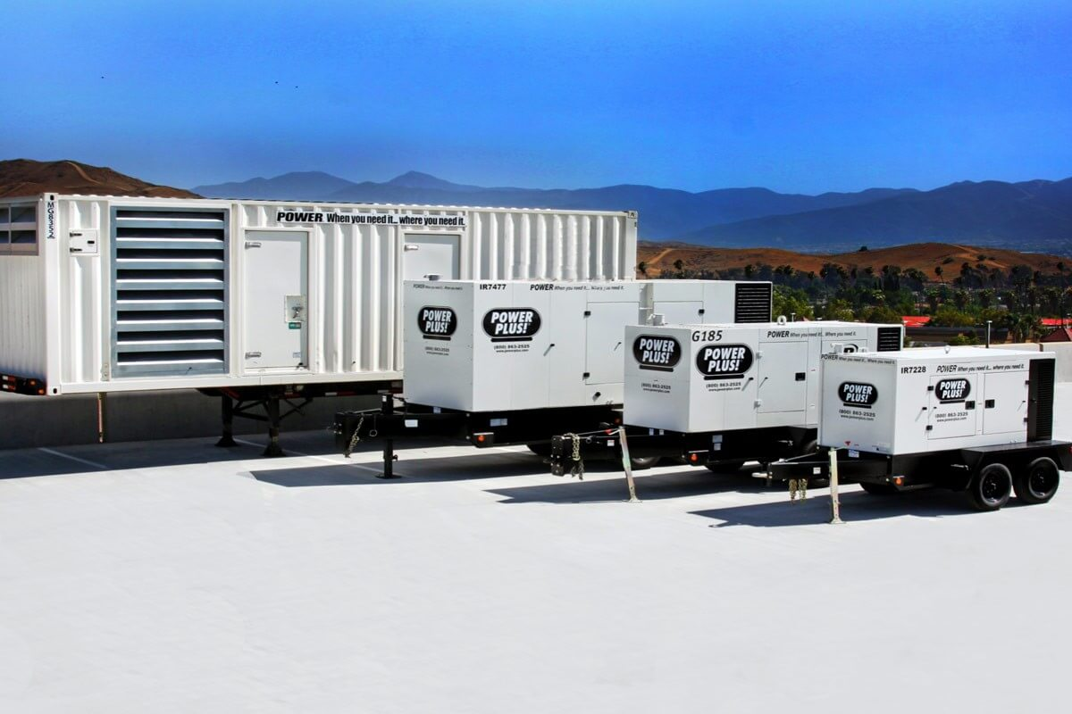 Industrial Power Plus generators for your construction site, school, hospital, or commercial business.